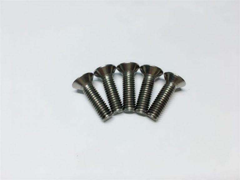 M3, M6 βίδα τιτανίου επίπεδη κεφαλή πώμα κεφάλι κεφαλής τιτανίου φλάντζα βίδες για χειρουργική επέμβαση της σπονδυλικής στήλης