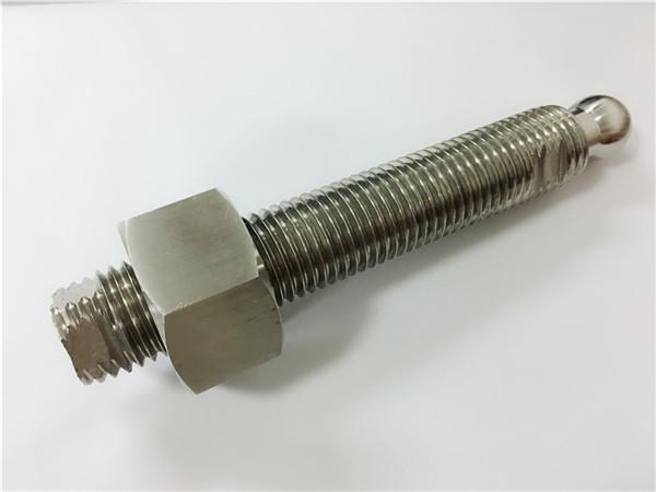 προσαρμοσμένο cnc φρεζάρισμα από ανοξείδωτο χάλυβα βίδα κεφάλι μπάλα και συνδετήρα