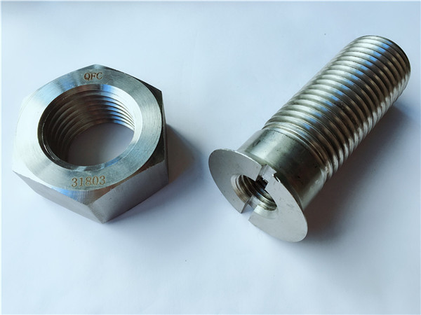 προσαρμοσμένο μεταλλικό υλικό χάλυβα μεταλλικό υλικό κοχλία και παξιμάδι