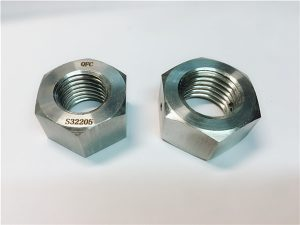 No.76 Duplex 2205 F53 1.4410 S32750 Καρφωτικό από ανοξείδωτο χάλυβα βαρύ εξάγωνο παξιμάδι