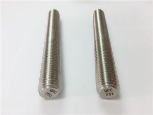 No.77 Duplex 2205 S32205 συνδετήρες από ανοξείδωτο χάλυβα DIN975 DIN976 βιδωτές ράβδους F51