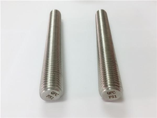 duplex2205 / s32205 συνδετήρες από ανοξείδωτο χάλυβα din975 / din976 βίδες με σπείρωμα f51