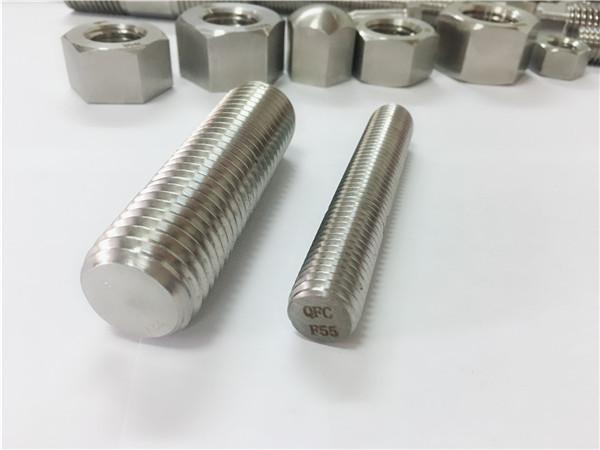 f55 / zeron100 συνδετήρες από ανοξείδωτο χάλυβα πλήρης σπείρωμα ράβδος s32760