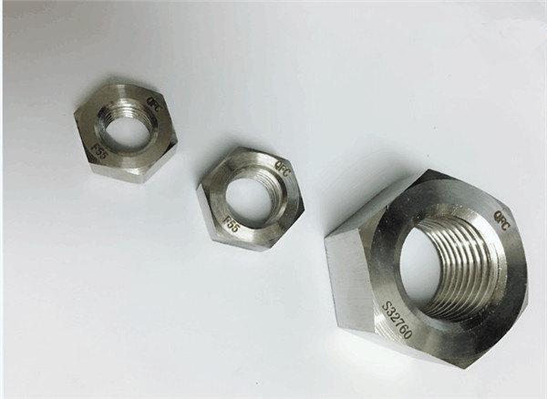duplex 2205 / f55 / 1.4501 / s32760 συνδετήρες από ανοξείδωτο χάλυβα βαρύ εξάγωνο παξιμάδι m20